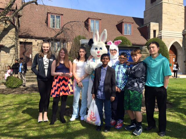 Youth with the Easter Bunny