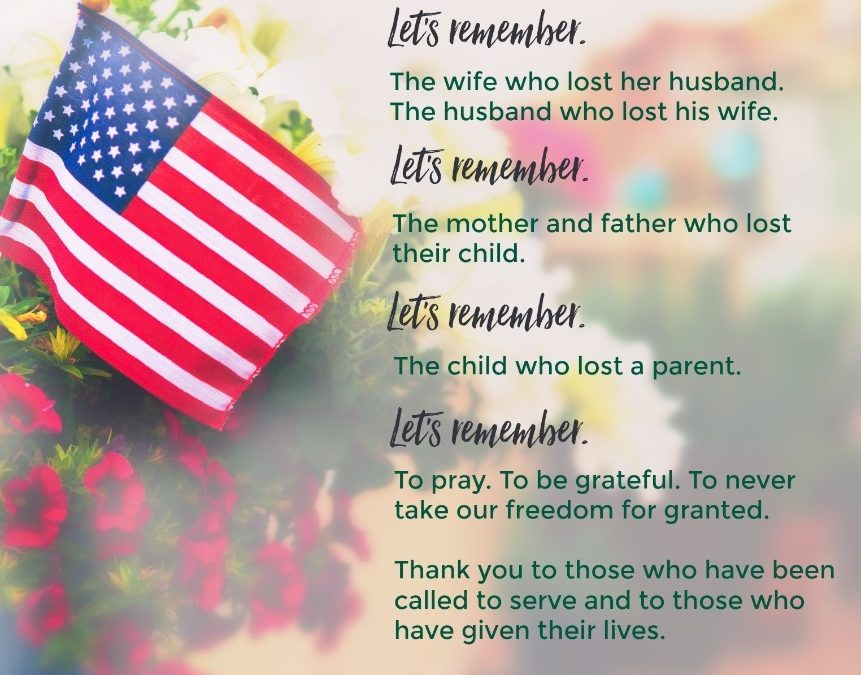 MEMORIAL DAY – REMEMBERING THOSE WHO SERVED